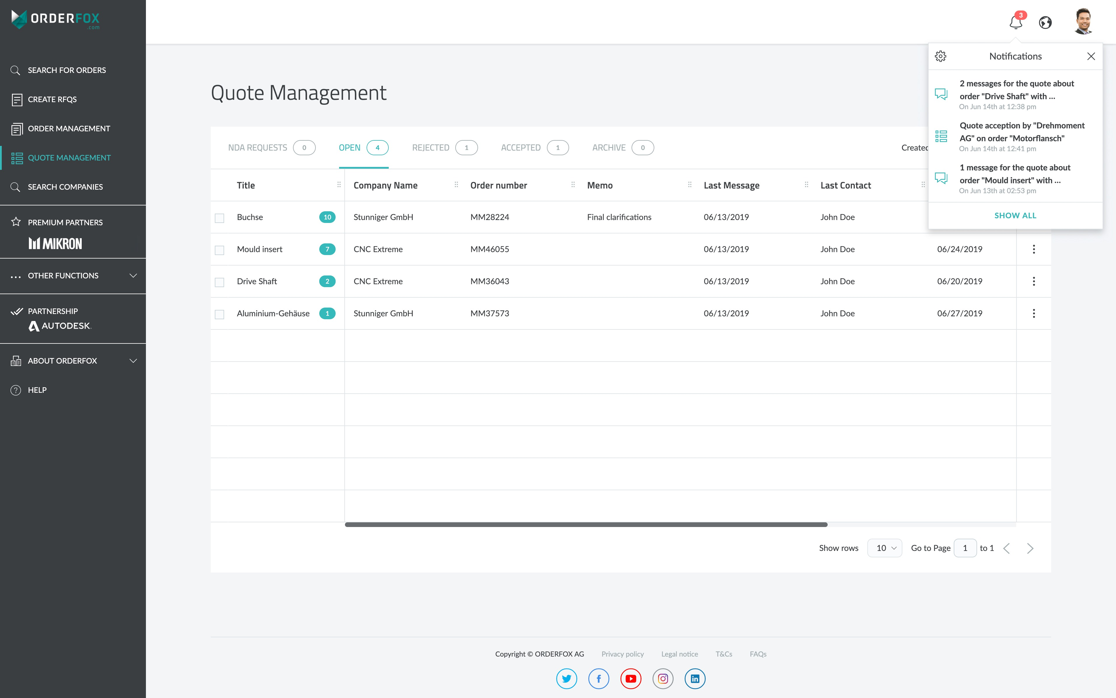 Quote Management System: Easy quote organisation and communication for CNC Manufacturers